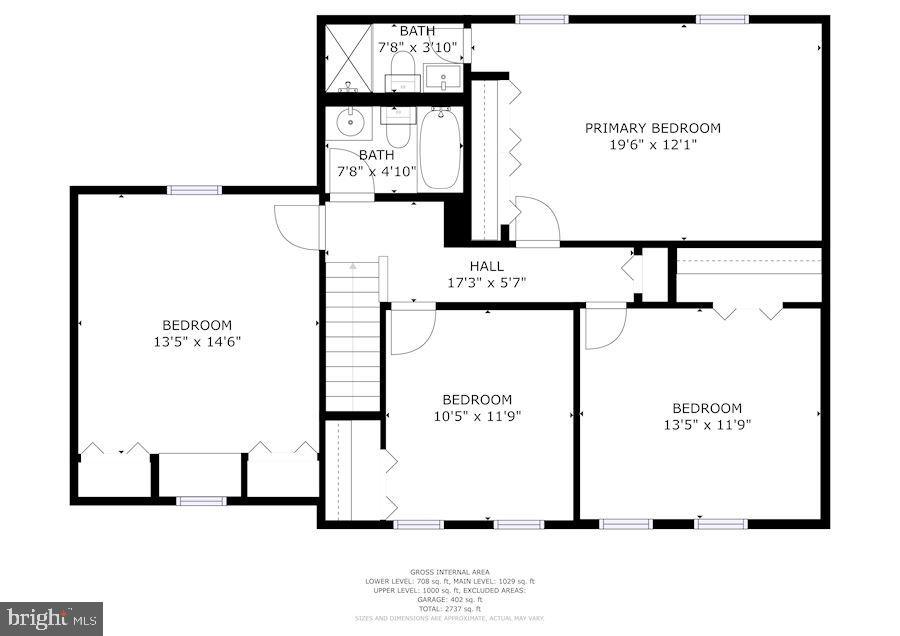 Floor Plan - Upper Level - 11007 HOWLAND DR, RESTON