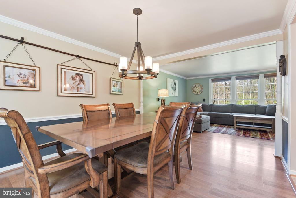 Dining Room - Talk About a STATEMENT Chandelier! - 11007 HOWLAND DR, RESTON
