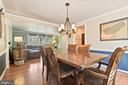 Dining Room - Easily Seats 12 of Your Fave Guests! - 11007 HOWLAND DR, RESTON