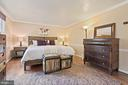 Primary Bedroom - Crown Molding & Chair Railing! - 11007 HOWLAND DR, RESTON
