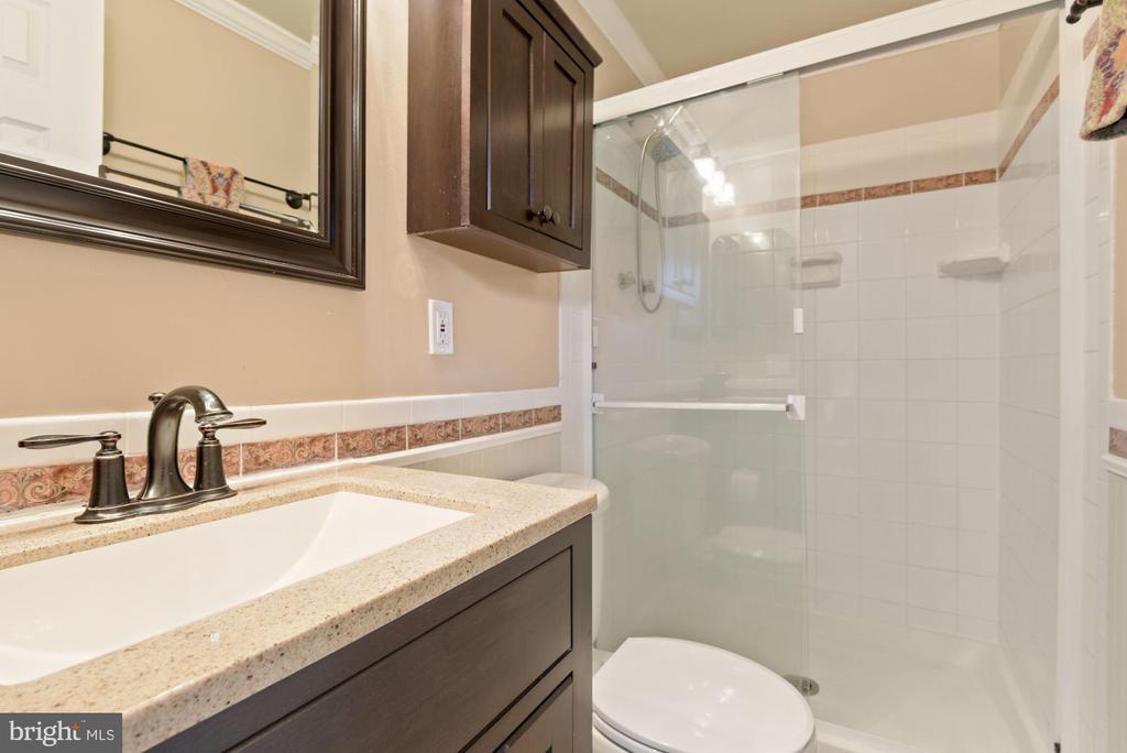 Primary Bathroom - Crisp White Tile Work! - 11007 HOWLAND DR, RESTON