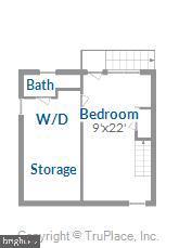 Lower level floor plan - 301 W GLENDALE AVE, ALEXANDRIA