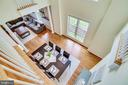 Upper level overlooking the dining room - 7945 BOLLING DR, ALEXANDRIA