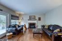 Family room with hardwood floors - 54 CHRISTOPHER WAY, STAFFORD