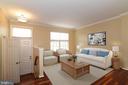 Your open living room with Brazilain Cherry Floors - 20854 APOLLO TER, ASHBURN