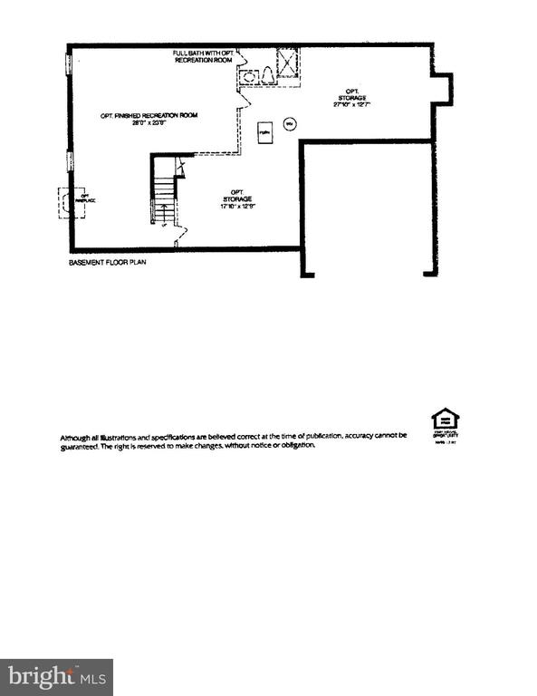 Floorplan Basement - 16644 CAXTON PL, DUMFRIES