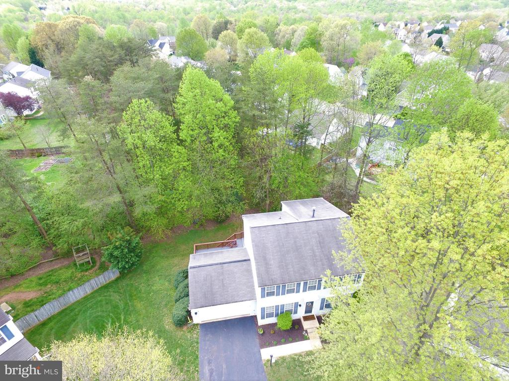 Drone view of Home and property - 14917 GLADIOLUS CT, WOODBRIDGE