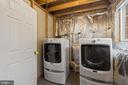 Lower level laundry room - 43490 MINK MEADOWS ST, CHANTILLY