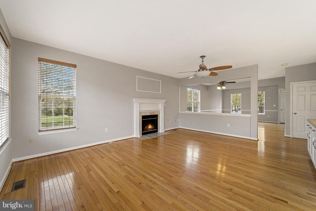 Family rom with gas fireplace - 43490 MINK MEADOWS ST, CHANTILLY
