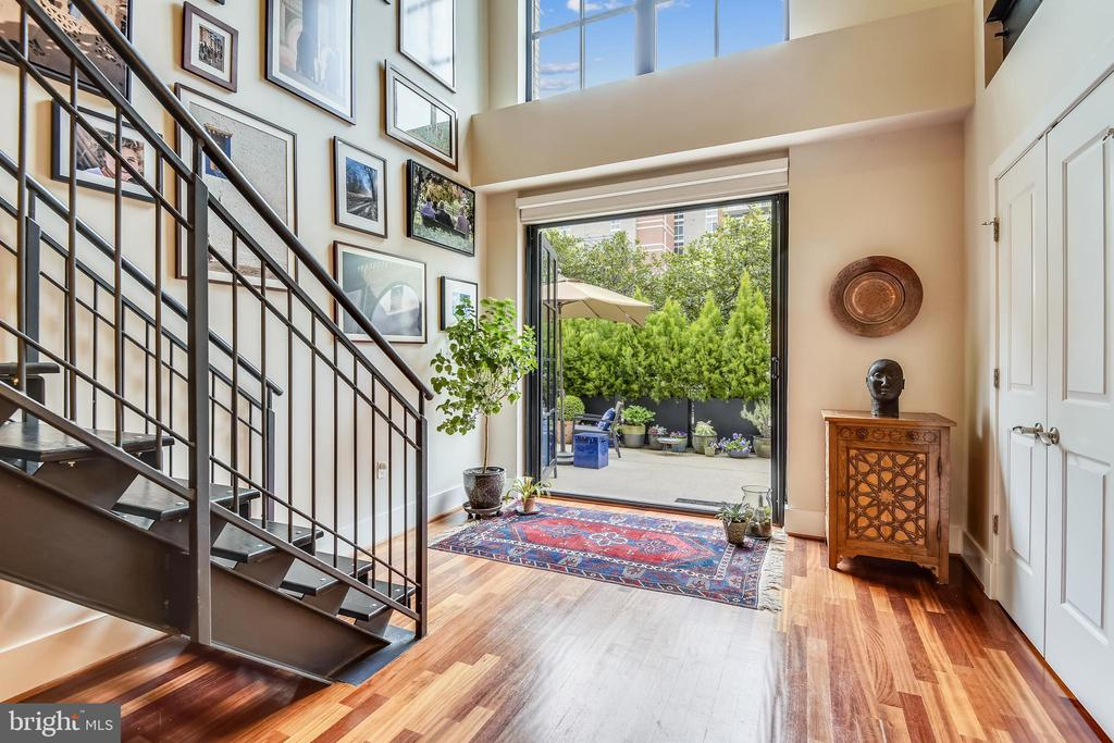 Private Patio entry to home on main level - 1615 N QUEEN ST #M204, ARLINGTON