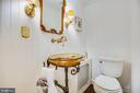 Elegant half bath. - 304 AMELIA ST, FREDERICKSBURG