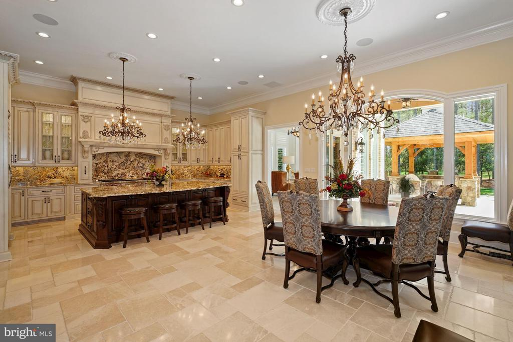 Gourmet Chef's Kitchen and Breakfast Room - 22608 CREIGHTON FARMS DR, LEESBURG