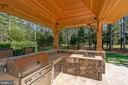 Custom Lighted Pavilion with Built-in 42