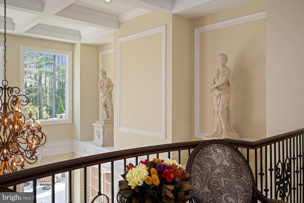 Two of the Home's 'Four Seasons' Stutues - 22608 CREIGHTON FARMS DR, LEESBURG