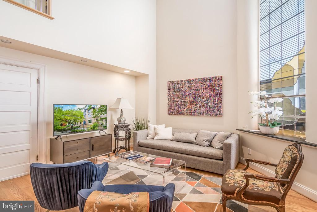 Two story living room in Unit 2 - 1723 19TH ST NW, WASHINGTON