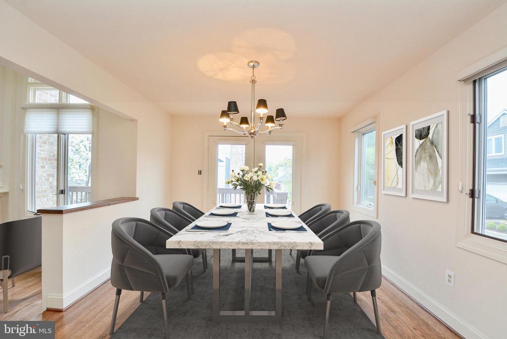 Dining Room - 10526 MEREWORTH LN, OAKTON