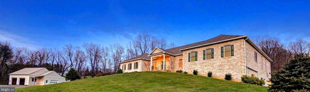 View of the House and Pole Building - 14515 SHIRLEY BOHN RD, MOUNT AIRY