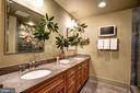 Owners Suite Bathoom with Two Sinks and TV - 1615 N QUEEN ST #M303, ARLINGTON