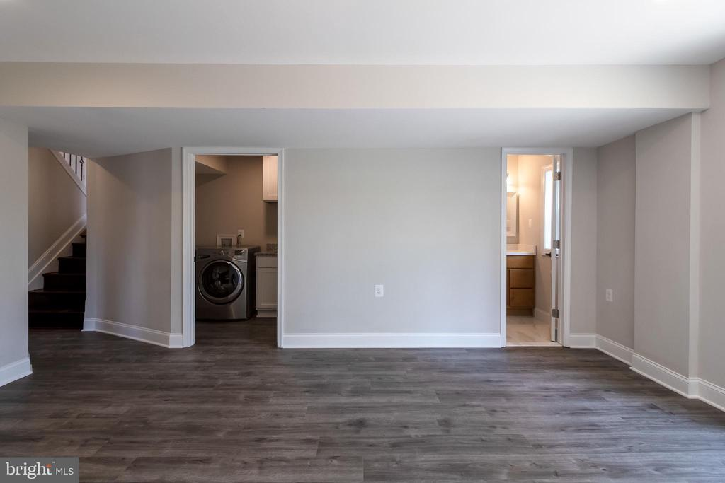 Lower Level 1 Family Room Laundry & Bath - 13203 TAMARACK RD, SILVER SPRING
