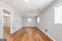 Very large rec room in LL w/ door to office/4th bd - 330 TULIP CIR, FREDERICKSBURG