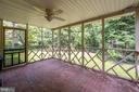 Large screen porch, access to yard/carport - 330 TULIP CIR, FREDERICKSBURG
