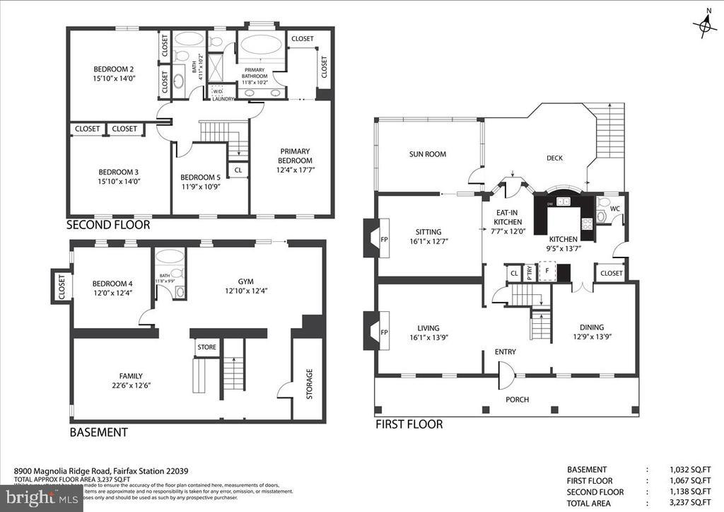 Floor plan (all levels) - 8900 MAGNOLIA RIDGE RD, FAIRFAX STATION