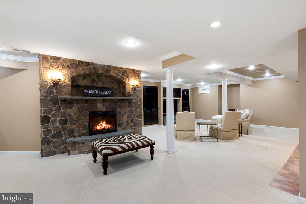Rec Room with Fireplace - 20003 SHADOW CREEK CT, ASHBURN