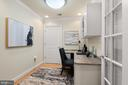 Office with built-in desk and French Doors - 3625 10TH ST N #903, ARLINGTON
