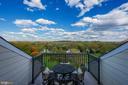 4th Floor Balcony Patio with spectacular views - 18362 FAIRWAY OAKS SQ, LEESBURG