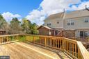 Huge deck with views of green space - 25532 GOVER DR, CHANTILLY