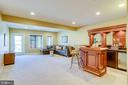 Rec room with built in custom bar - 18359 EAGLE POINT SQ, LEESBURG