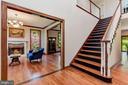 Two Story Foyer | Red Oak Hardwood Floors - 8329 MYERSVILLE RD, MIDDLETOWN
