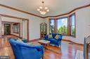 Living Room | Hardwood Floors | Bow Window - 8329 MYERSVILLE RD, MIDDLETOWN