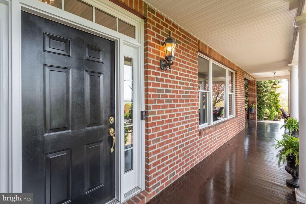 Covered Front Porch | Mahogany Wood Floors - 8329 MYERSVILLE RD, MIDDLETOWN