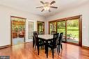 Breakfast Room | Sunroom | Access to Backyard - 8329 MYERSVILLE RD, MIDDLETOWN