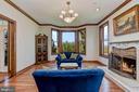 Living Room | Hardwood Floors | Fireplace - 8329 MYERSVILLE RD, MIDDLETOWN