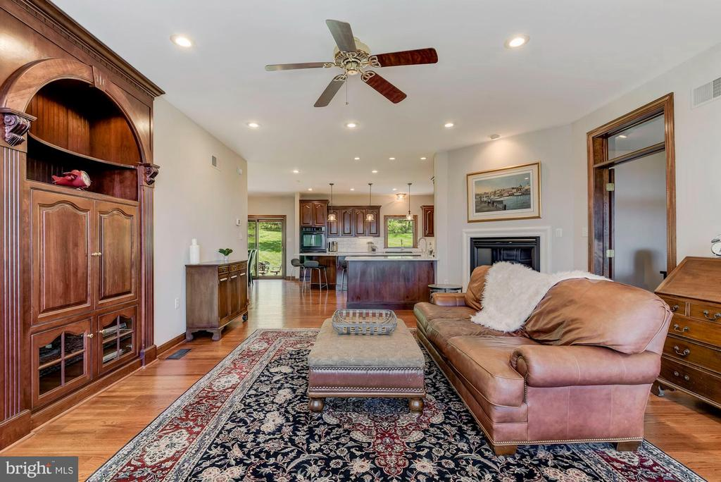 Family Room | Built-In Cabinetry | Fireplace - 8329 MYERSVILLE RD, MIDDLETOWN