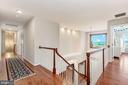 Upper Level Landing | Red Oak Hardwood Floors - 8329 MYERSVILLE RD, MIDDLETOWN