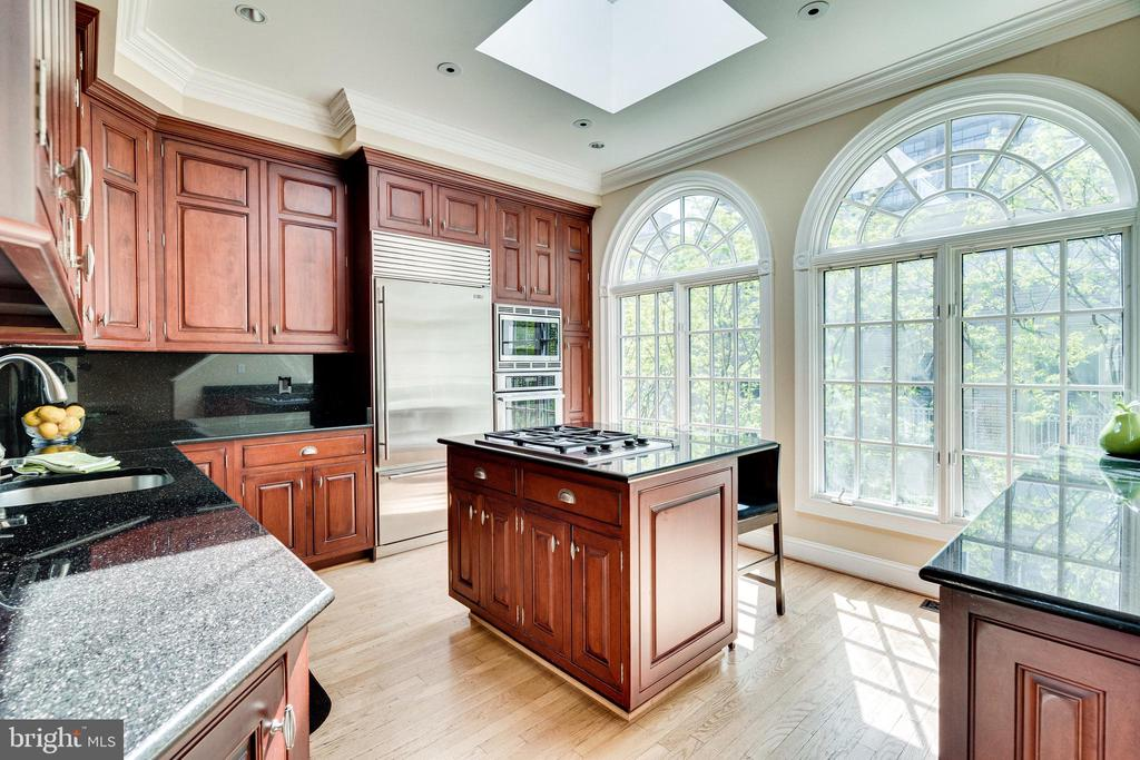 Kitchen with skylight and inset cabinetry - 1315 14TH ST N, ARLINGTON