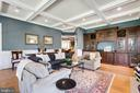 Gorgeous coffered ceiling detail - 815 BLACKS HILL RD, GREAT FALLS