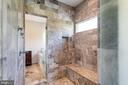 Marble shower is shared w/ 2 entrances - 815 BLACKS HILL RD, GREAT FALLS