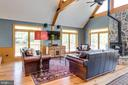 Watch a game by the wood stove - 815 BLACKS HILL RD, GREAT FALLS
