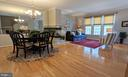 Dining & Living Rooms with gas fireplace - 10481 COURTNEY DR, FAIRFAX