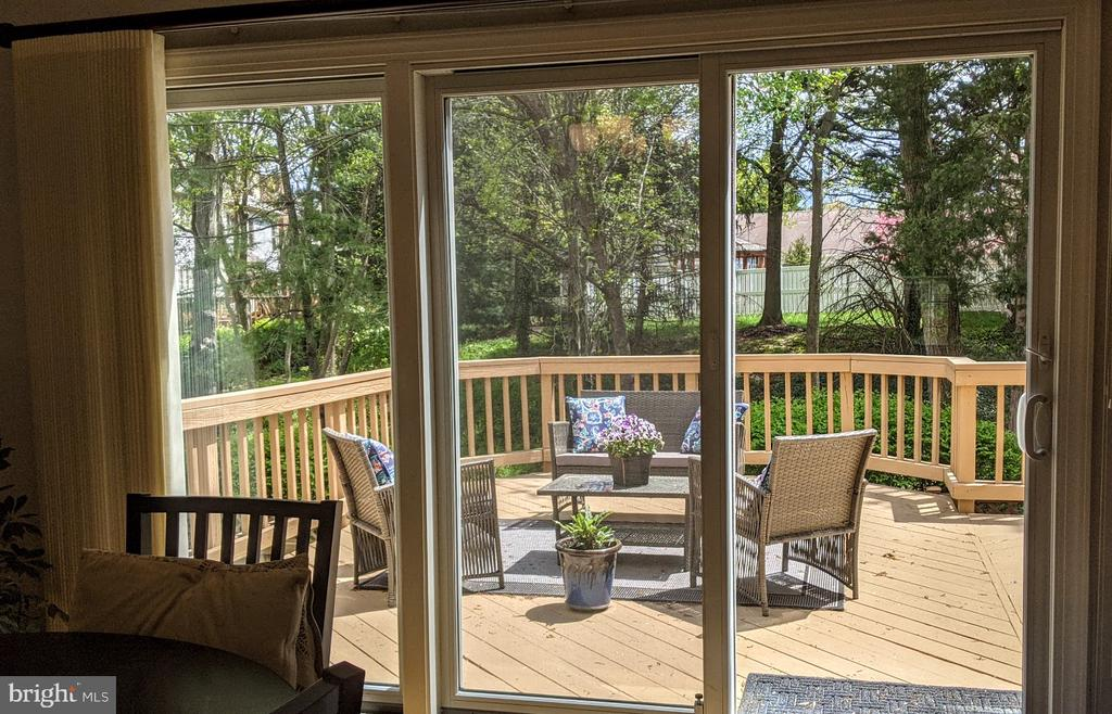 View from Family Room - 10481 COURTNEY DR, FAIRFAX