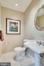 Formal Powder Room on Living room level. - 1315 14TH ST N, ARLINGTON