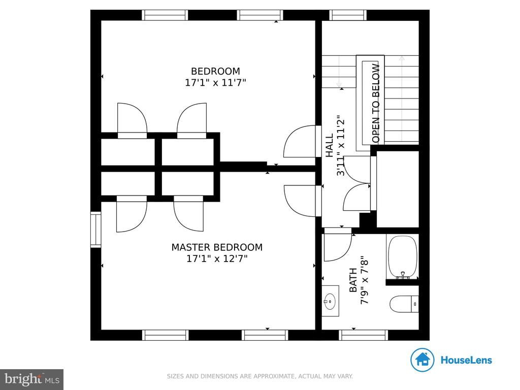 Upper Level Floor Plan - 1951 MILLWOOD RD, MILLWOOD