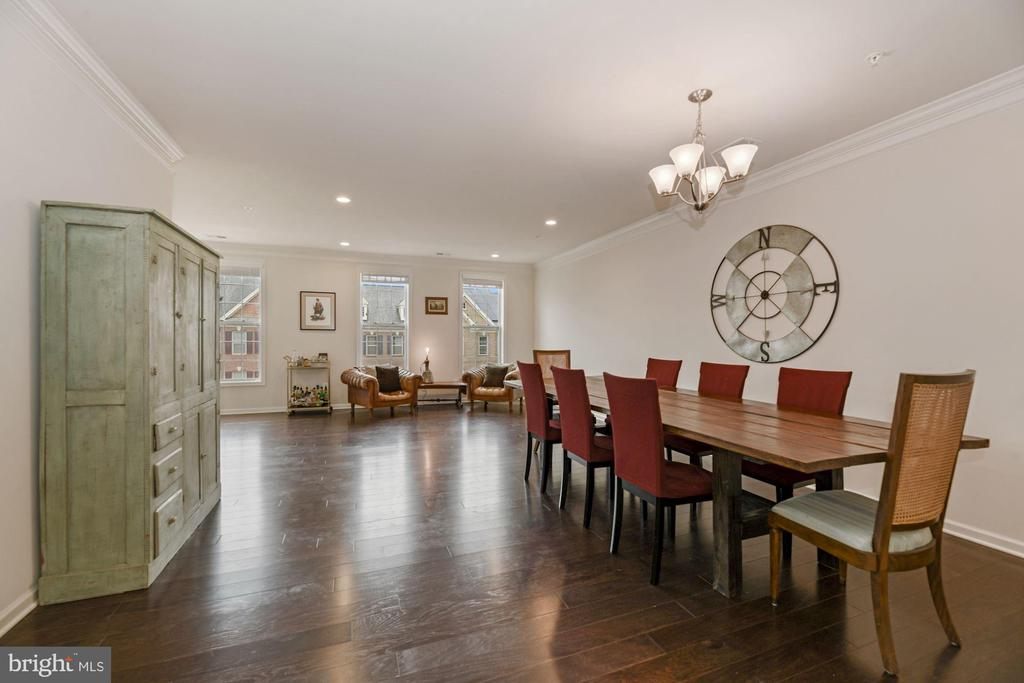 Dining Room - Hardwood Floors & Tall Ceilings! - 43213 THOROUGHFARE GAP TER, ASHBURN