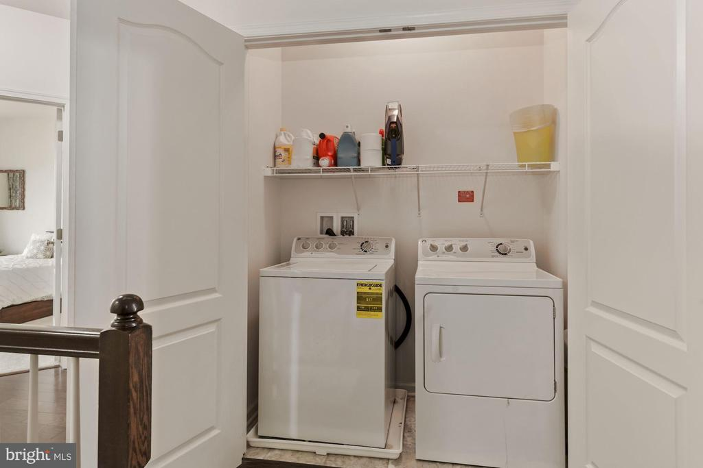 Laundry Room - Located on Bedroom Level of Home! - 43213 THOROUGHFARE GAP TER, ASHBURN