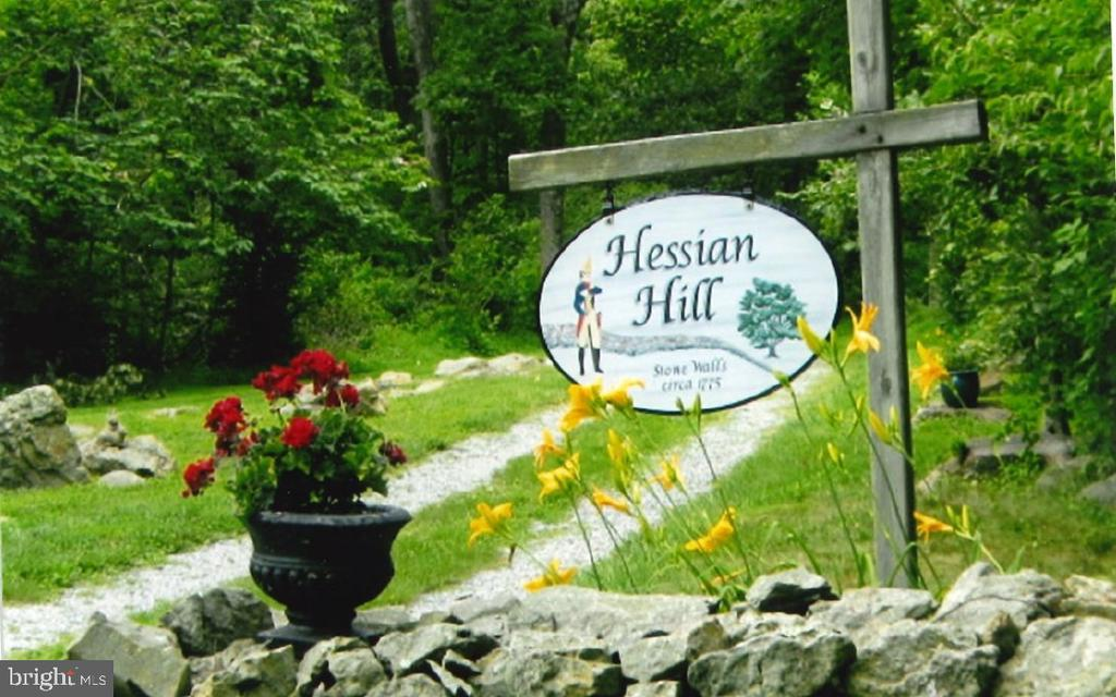 Hessian Hall named after stone walls built by them - 17914 RAVEN ROCKS RD, BLUEMONT
