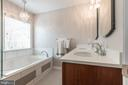 Upgraded Primary Bath with Soaking Tub! - 8921 TAPPEN MILL WAY, MANASSAS